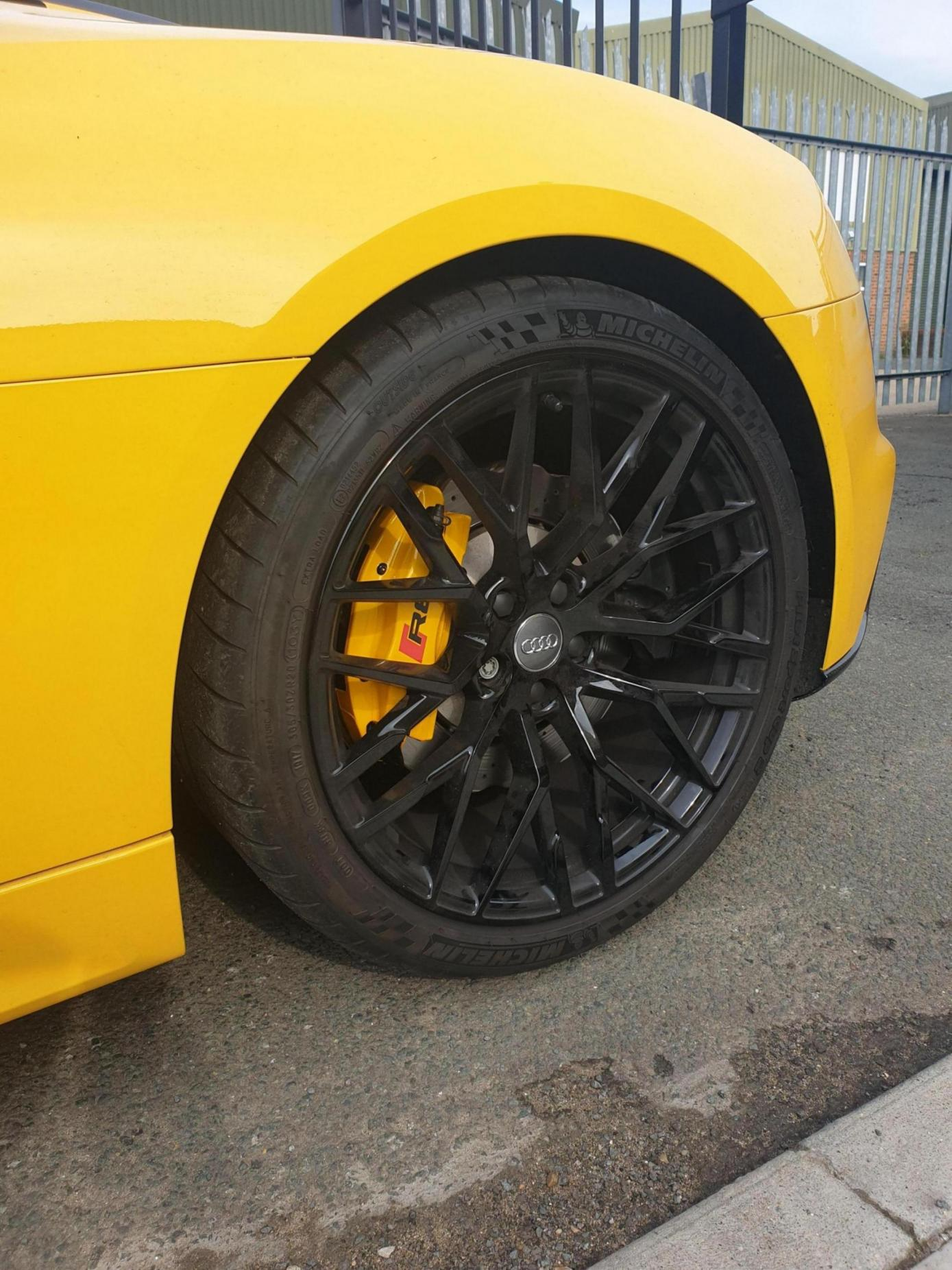 Calipers wrapped in reflective yellow wrap!-20190726_172235_1565951314129.jpg