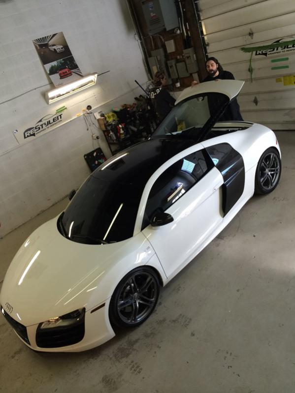 Ibis White R8 V10 With Black Roof Vinyl Wrap Amp Tinted