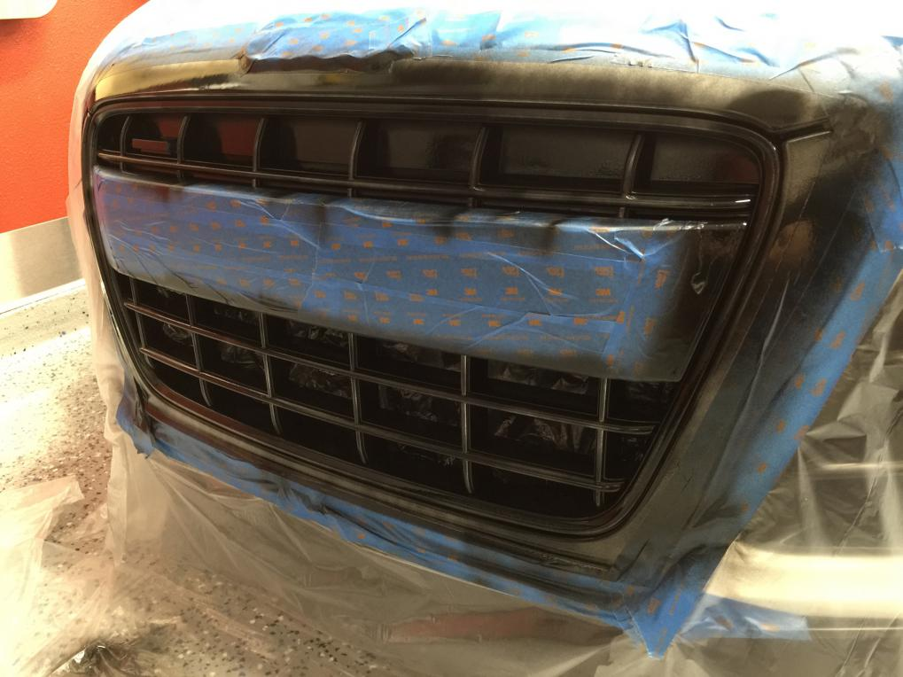 Tried plasti dipping my grille - EPIC WIN