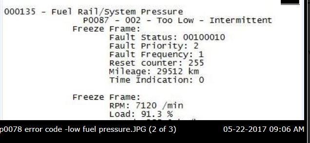Vcds Fuel Pressure